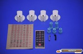 KNOB 40MM UNI WHT KIT & DECALS - M1508996 - Chef, Electrolux, Westinghouse