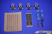 KNOB 35MM UNI S/S KIT & DECALS - M1508857 -